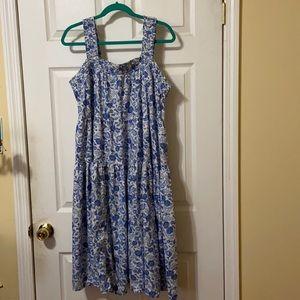 Floral Tiers Smocking Tank Dress